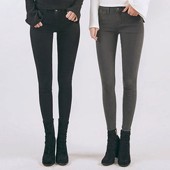 chuu - Fleece-Lined -5kg Skinny Pants
