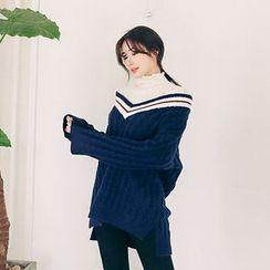 Seoul Fashion - V-Neck Wool Blend Sweater