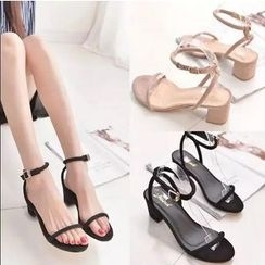Yoflap - Ankle Strap Block Heel Sandals