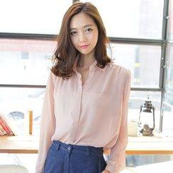 謳若緹 - 純色襯衫