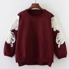 Tulander - Lace Trim Sweater