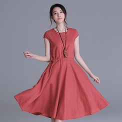 Romantica - Short-Sleeve Buttoned Dress