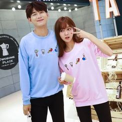 TOOI - Couple Matching Embroidered Pullover