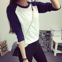 Century Girl - 配色插肩袖套衫