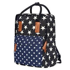Mr.ace Homme - Star Print Panel Canvas Backpack