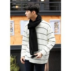 GERIO - Round-Neck Stripe Sweater