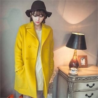 ERANZI - Double-Breasted Wool Blend Coat