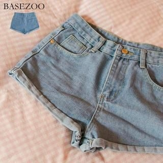 BaseZoo - Cuffed Denim Shorts