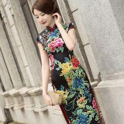 Miss Four Qipao - 花花长款旗袍