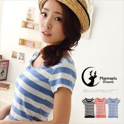 Maymaylu Dreams - Striped T-Shirt