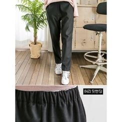 LOLOten - Band-Waist Baggy-Fit Dress Pants