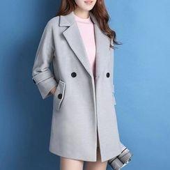 GETU - 饰扣大衣
