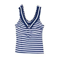Aqua Wave - Striped Tankini Top