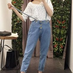 November Rain - Suspender Jeans