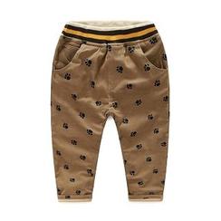WellKids - Kids Paw Print Fleece-Lined Pants