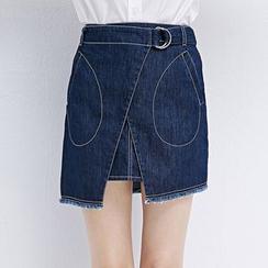LUIMINE - Denim A-Line Skirt
