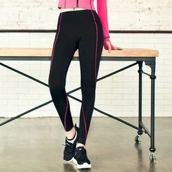 Giorno - Contrast Piping Workout Leggings