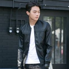 INSO - Faux Leather Baseball Jacket