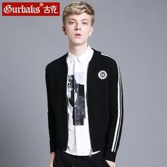 Gurbaks - Stripe Zip Knit Jacket