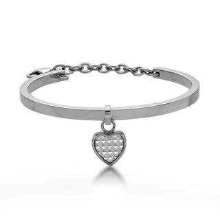 Kenny & co. - White Pyramid in Heart Bangle