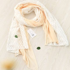 11.STREET - Lace Panel Light Scarf