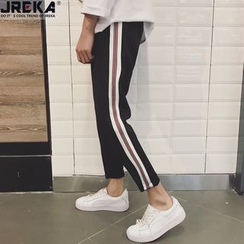 Jacka - Stripe Trim Cropped Sweatpants