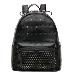 ALIN - Genuine Leather Studded Backpack