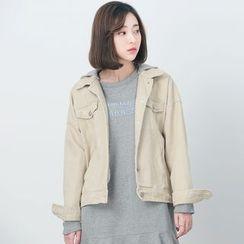 BORAN - 連帽純色夾克