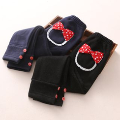 Seashells Kids - Kids Bow Fleece-lined Pants