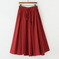 ninna nanna - Drawstring Maxi Skirt