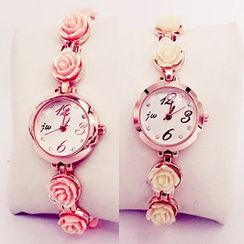 Nanazi Jewelry - Rose Accent Bracelet Watch