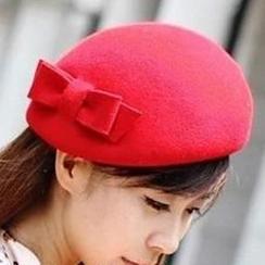 卿本佳人 - 蝴蝶結貝雷帽