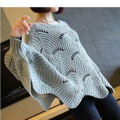 YIDIYU - 麻花针织毛衣