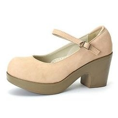 MODELSIS - Platform-Heel Mary Jane Pumps