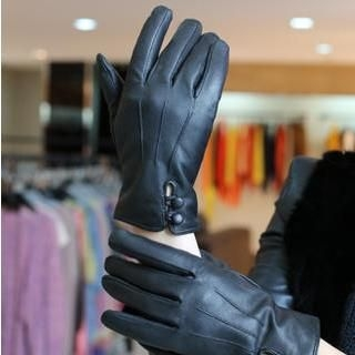 siggi - Genuine Lambskin Buttoned Gloves
