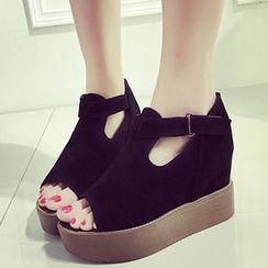 Wello - Slingback Platform Wedge Sandals