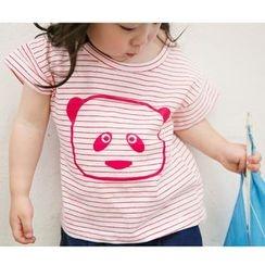 Suzys Kids - Family Panda Stripe Short-Sleeve T-shirt