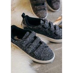GOROKE - Triple-Velcro Tweed Sneakers