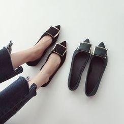 Linda Lane - 尖头拼接平底鞋