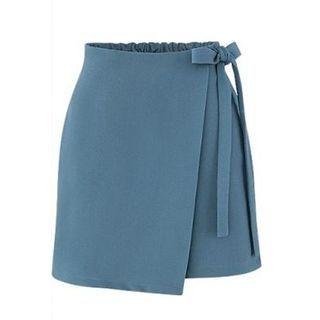 YILIA - Bow Detail A-Line Skirt