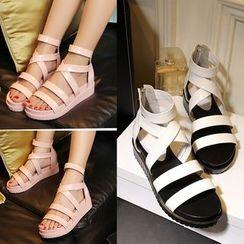 Romantina - Patent Roman Sandals