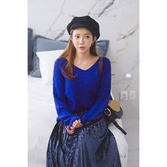 migunstyle - V-Neck Knit Top
