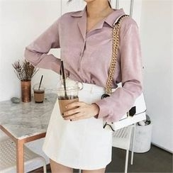 QNIGIRLS - Notched-Lapel Shirt