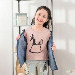 OrangeBear - Kids Horse Print T-Shirt