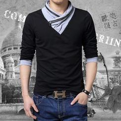Gurun Vani - Long-Sleeve Zip Accent Top