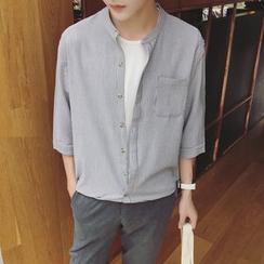 Soulcity - 3/4-Sleeve Striped Shirt