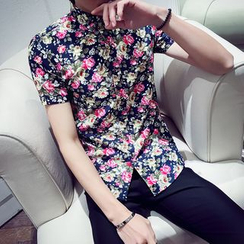 SHAN7 - Short-Sleeve Floral Shirt