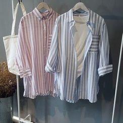 芷蓯夕 - 條紋襯衫