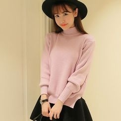 lilygirl - Mock-Neck Knit Top
