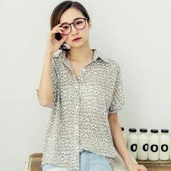 Tokyo Fashion - Horse Print Chiffon Shirt